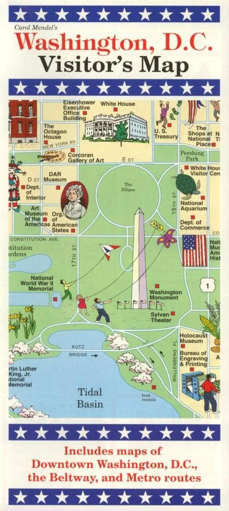 buy map washington dc visitors map  carol mendel