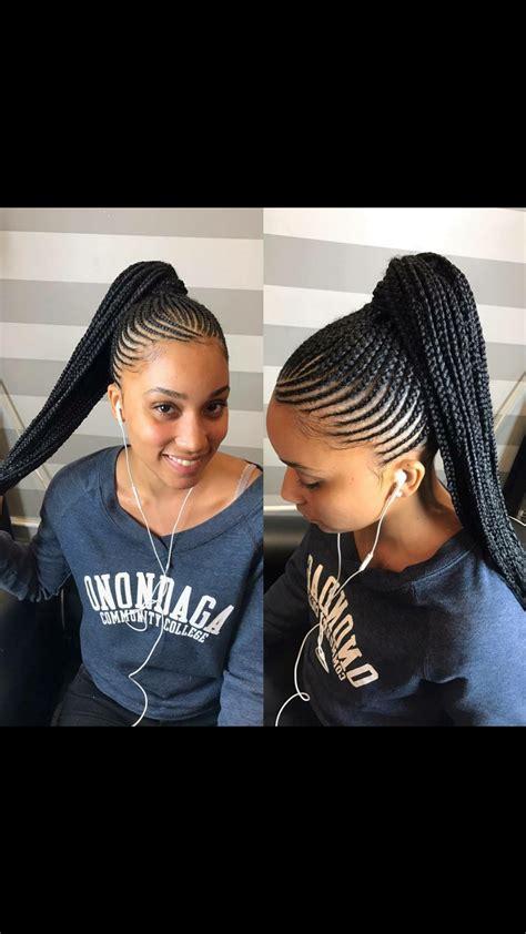 big scalp braids in ponytail scalp braids ponytail natural hair style braids