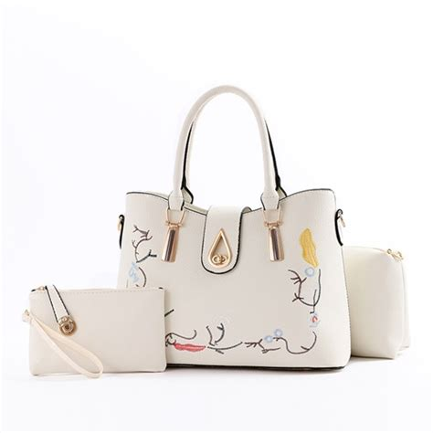 3 Tas Fashion 3in1 jual b8631 white tas fashion set 3in1 grosirimpor