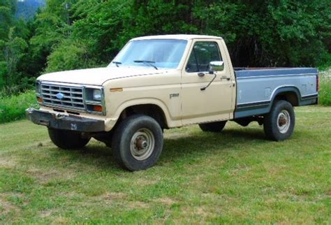 manual cars for sale 1984 ford f250 electronic valve timing 1984 ford f 350 1 ton 4x4 manual pickup truck 4 speed