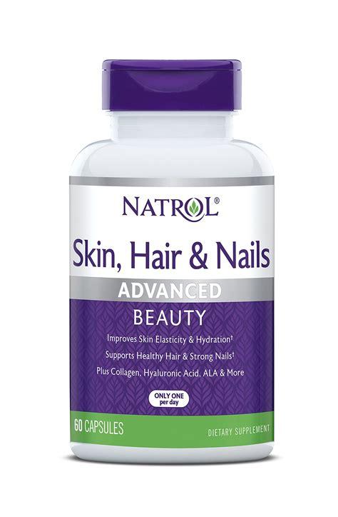 Natrol Skin Hair Nails 60 Capsules natrol biotin plus lutein tablets 5 000mcg