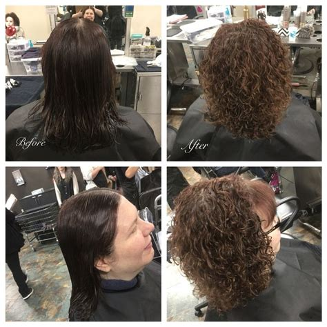 haircut before or after a bodybperm basic straight back perm wrap using grey rods used
