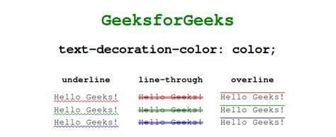 text decoration color css text decoration color property geeksforgeeks