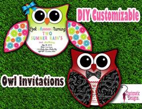 owl invitation template free diy customizable owl invitation printable template on