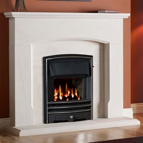 Portuguese Limestone Fireplace by Gallery Dacre Portuguese Limestone Fireplace Suite