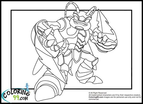 free coloring pages of skylanders giant