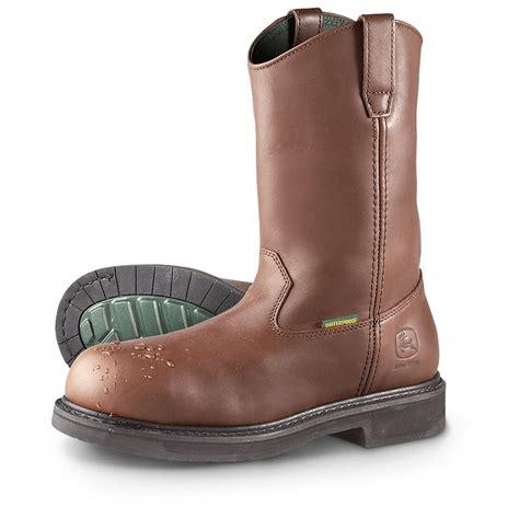 die mens work boots s deere 174 11 quot waterproof steel toe wellington work