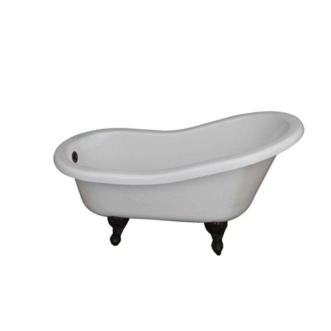 6 ft bathtub all in one 5 5 ft acrylic oil rubbed bronze clawfoot