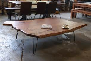 Dining Room Tables Oval slab coffee table with hairpin legs lorimer workshop