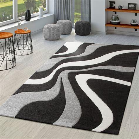 Teppiche Weiss Grau by Teppich Schwarz Wei 223 Grau Wohnzimmer Teppiche Modern Mit