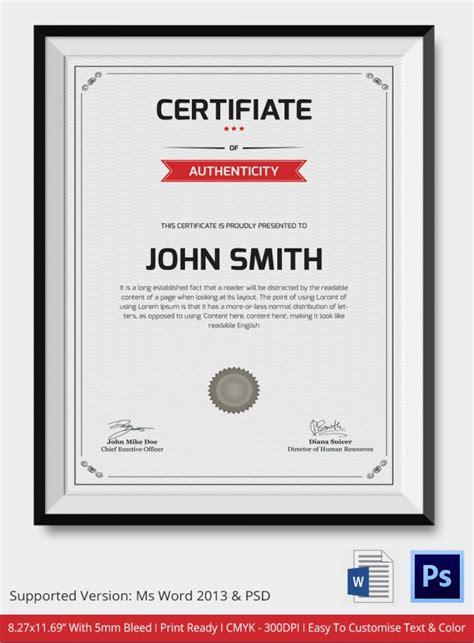 certificate design mac certificate of authenticity template mac images