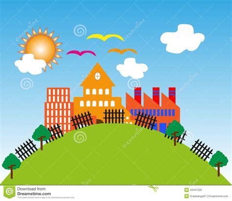 desenho paisagens paisagem cidade dos desenhos animados ilustra 231 227 o do
