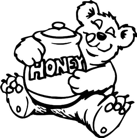 honey bear coloring pages bee coloring pages surfnetkids happy honey bee colouring