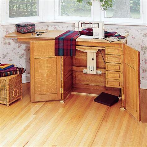 Sewing Machine Cabinets Plans Blueprints Pdf Diy