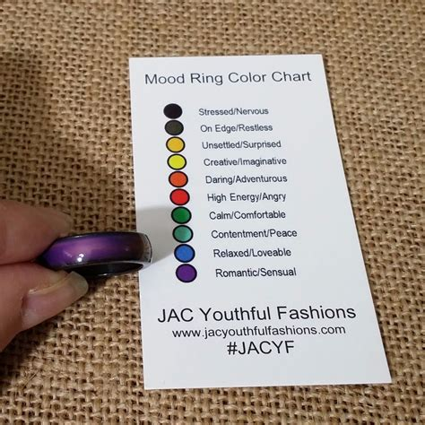 mood ring color mood ring magnetic hematite band size 6 7 8 9 with mood