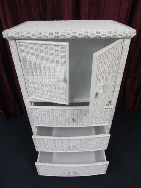 white wicker armoire lot detail white wicker armoire 30 5 quot wide x 50 5 quot tall