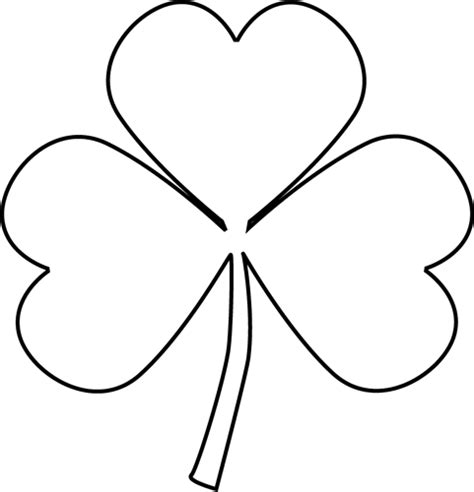 Shamrock Outline Clipart black and white shamrock clip black and white