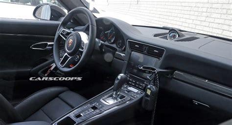 porsche pajun interior facelifted 2016 porsche 911 s interior spied undisguised