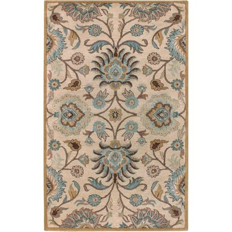 5 Ft Area Rugs artistic weavers amanda ivory wool 5 ft x 7 ft 9 in area rug the home depot canada