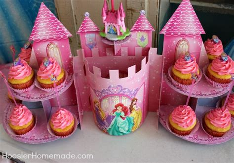 Princess Bedroom Decorating Ideas princess party cupcakes and decorations hoosier homemade