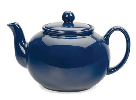 Review The Ingenuitea Microwavable Tea Pot by Stoneware Teapot Blue Rsvp International Inc