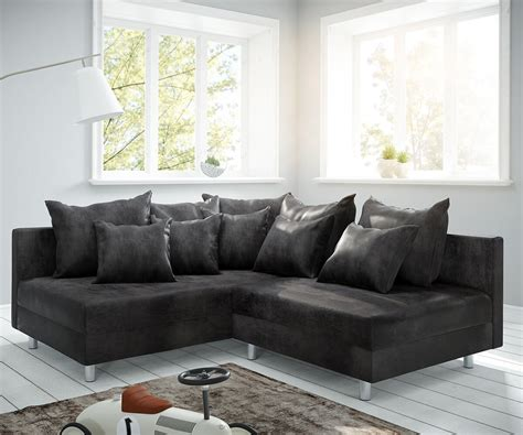 delife ecksofa delife ecksofa clovis anthrazit antik optik ottomane links