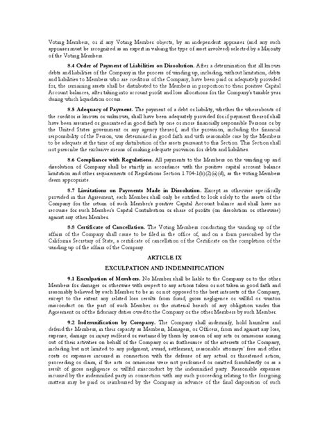 Sle Operating Agreement California Free Download California Llc Operating Agreement Template
