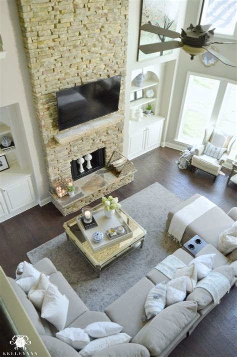 form  function   family room balancing  pretty