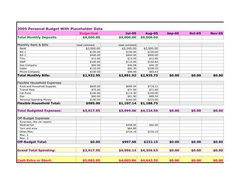free spreadsheet templates for bills best photos of personal expenses spreadsheet personal