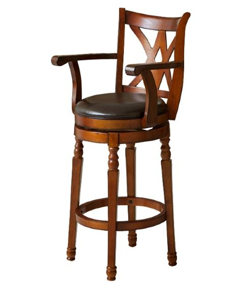 Swivel Bar Stool With Arms Eclipse Brown Swivel Bar Stool With Arms Bar Stools At Hayneedle