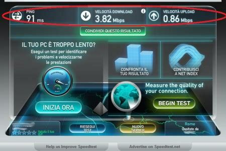 come fare un test di come fare un test di velocit 224 adsl e controllare