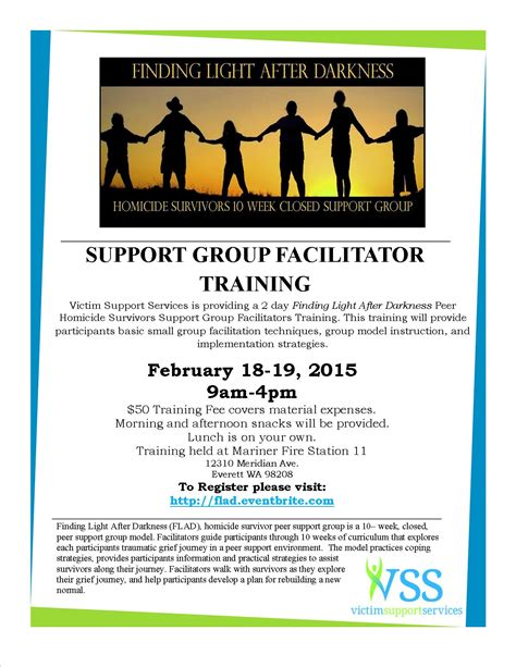 support certification victim support services support facilitator