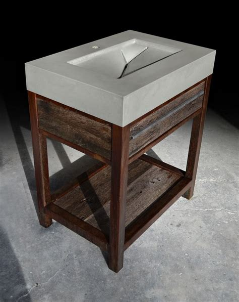 rustic modern bathroom vanity hand made rustic modern concrete wood steel vanity by