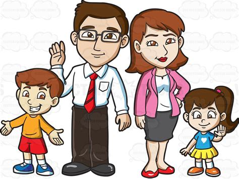 family of four clip www imgkid the image kid