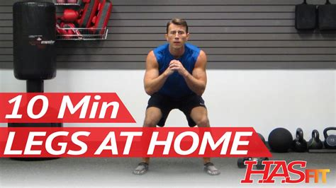 hasfit 10 minute leg workout exercises best legs