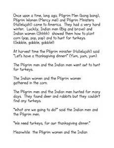 thanksgiving play script thanksgiving ideas kindergarten nana
