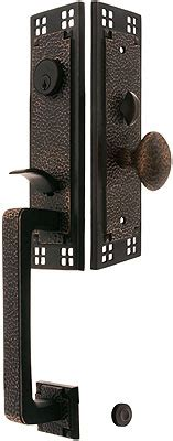 craftsman style mortise handleset with choice of interior