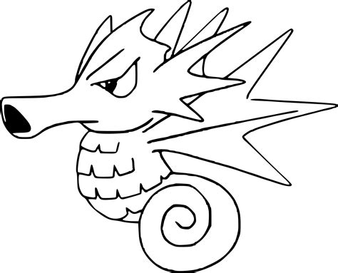 pokemon coloring pages of horsea coloriage hypoc 233 an pokemon 224 imprimer