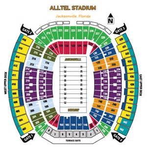 Jaguar Stadium Seating Chart Nfl Football Stadiums Jacksonville Jaguars Stadium