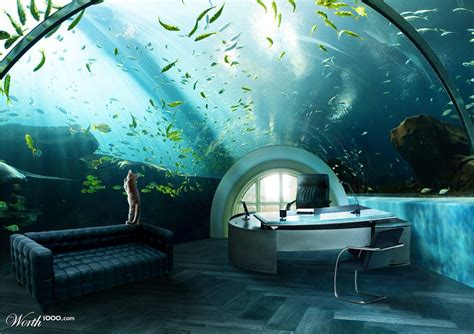 Office Desk Aquarium The Top 5 Most But Awesome Home Offices