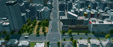Office Zone Cities Skylines Cities Skylines Roads Intersections And Traffic