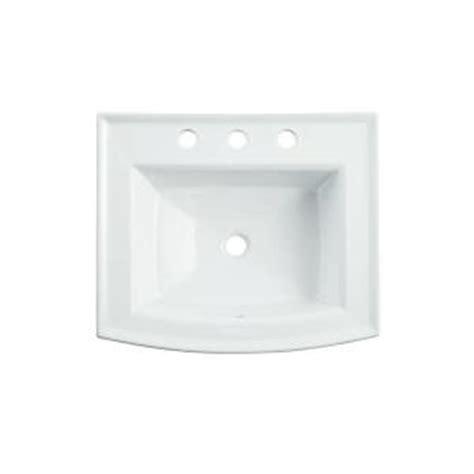home depot drop in bathroom sinks kohler archer drop in vitreous china bathroom sink in