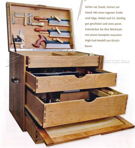 woodworking tool box woodworking tool chest plans woodarchivist