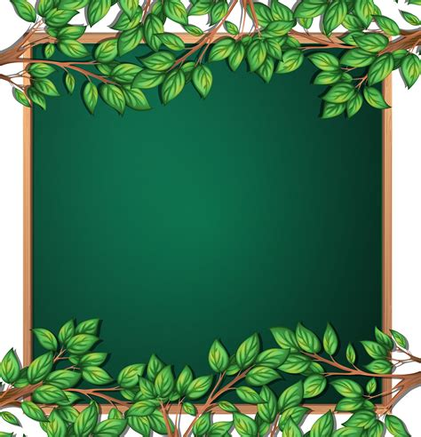 wooden tree branch frame   vectors clipart