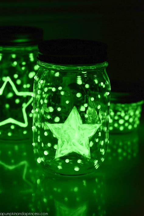 Glow in the dark Mason Jars   A Pumpkin And A Princess