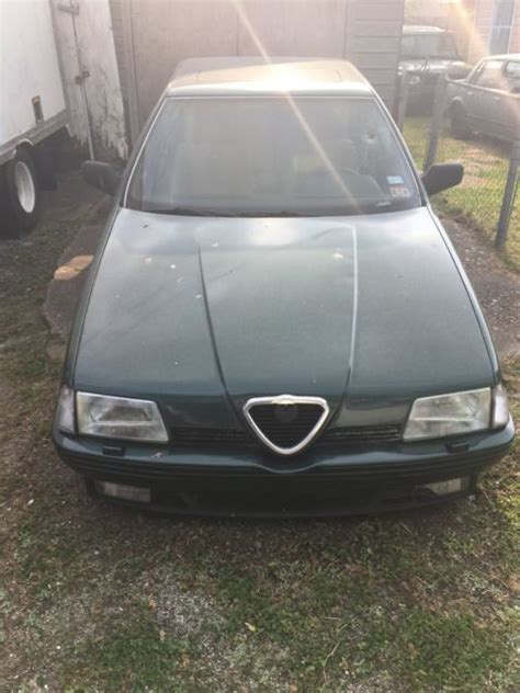 alfa romeo 4 door sedan 1991 alfa romeo 164l 4 door sedan green