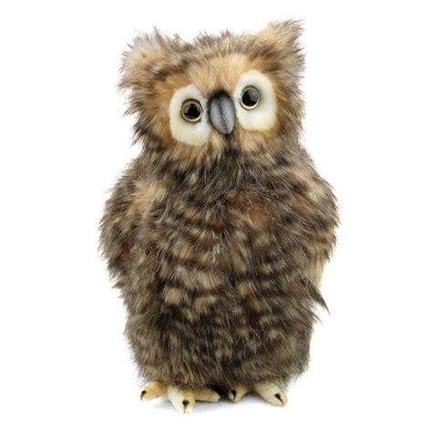 owl stuffed animal handcrafted 9 inch lifelike baby brown owl stuffed animal