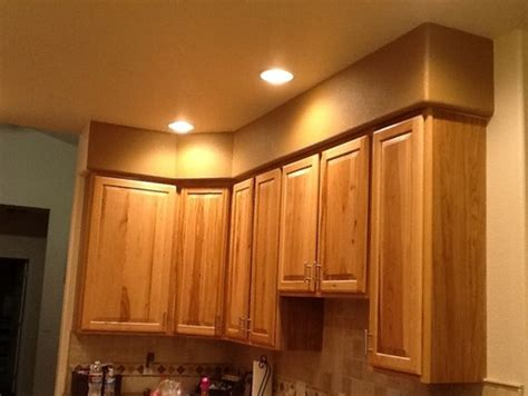 hide soffit above kitchen cabinets by adding crown molding need help with ugly soffit above kitchen cabinets