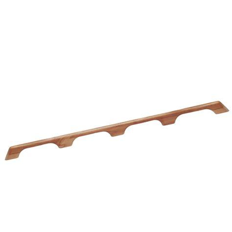 Teak Handrail whitecap teak handrail 4 loops 43 quot l