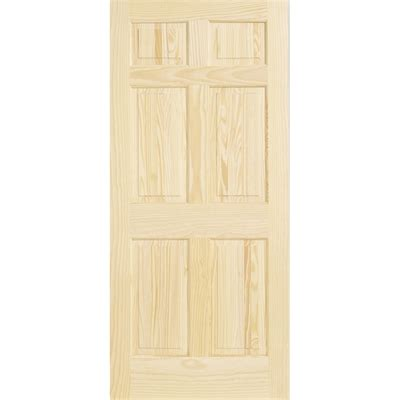 Interior Wood Doors Canada Reliabilt 3 0151115339e10 6 Panel Solid Wood Interior Slab Door Lowe S Canada